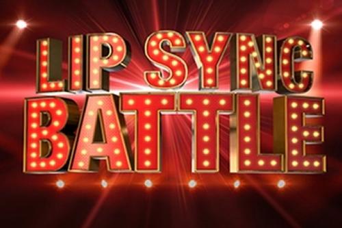 Lip Sync Battle lit in red on sign